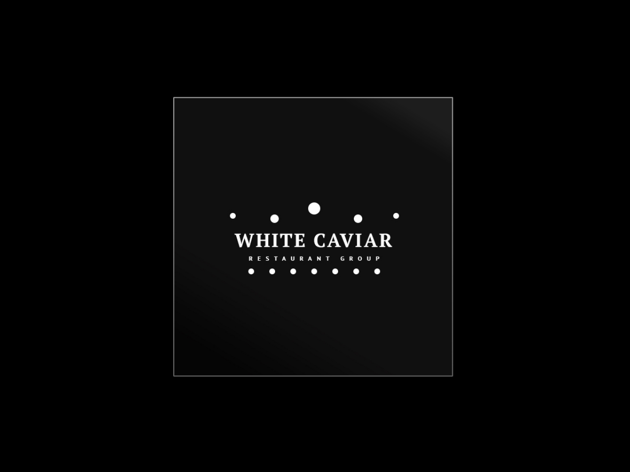 """White Caviar"" restaurant group logo"