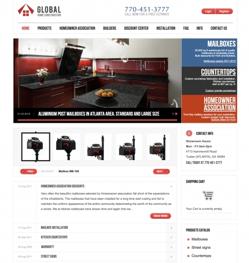 """Global HC"" website redesign 2011"